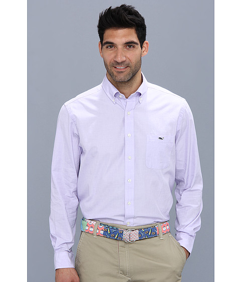 Vineyard Vines Solid Slim Fit Tucker Shirt Aster - Zappos.com Free Shipping BOTH Ways