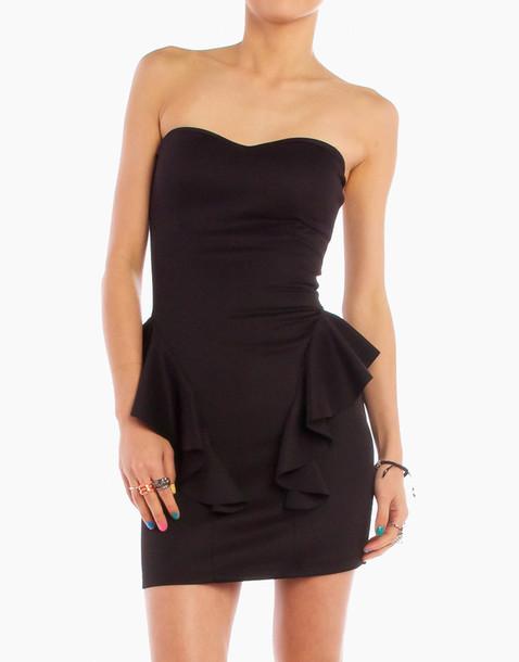 black dress dress ruffle