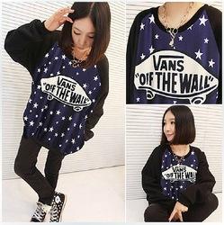 2013 Herbst und Winter koreanisch fashion star hoodie frauen lose 3d langarm pullover galaxy Raum tops