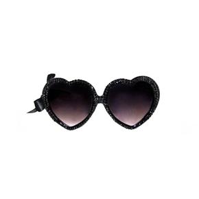 MARIALIA - Jet Black Swarovski® Heart Sunnies