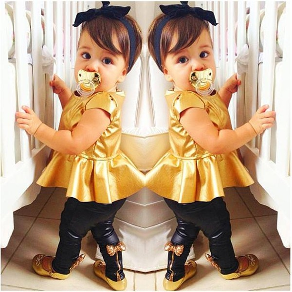 shirt gold blouse flats todler cute peplum shoes hat jeans toddler