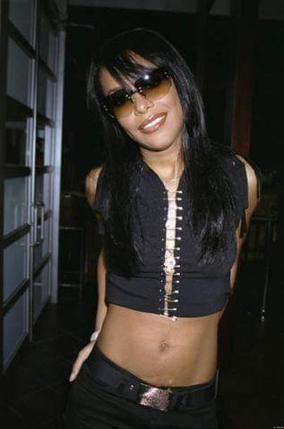 blouse safety pin top black top aaliyah haughton