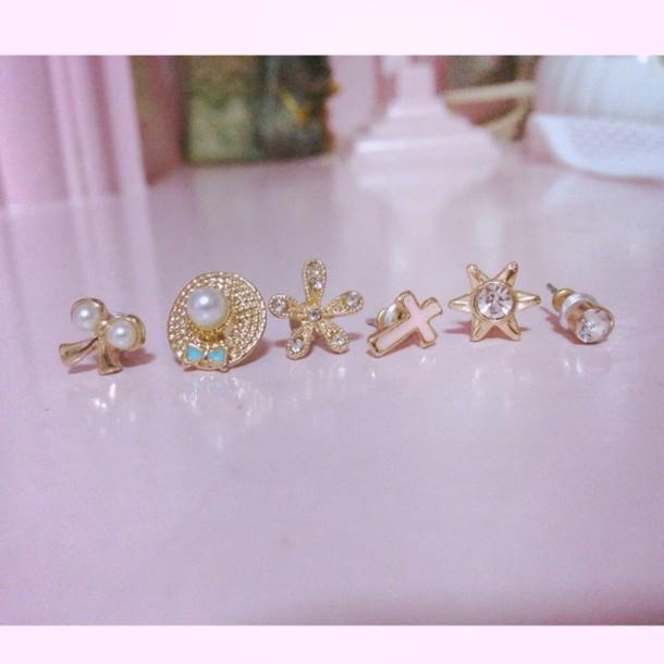 jewels earings earing set earrings jewels ear cuff