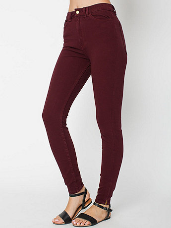 Four-Way Stretch High-Waist Side Zipper Pant   American Apparel