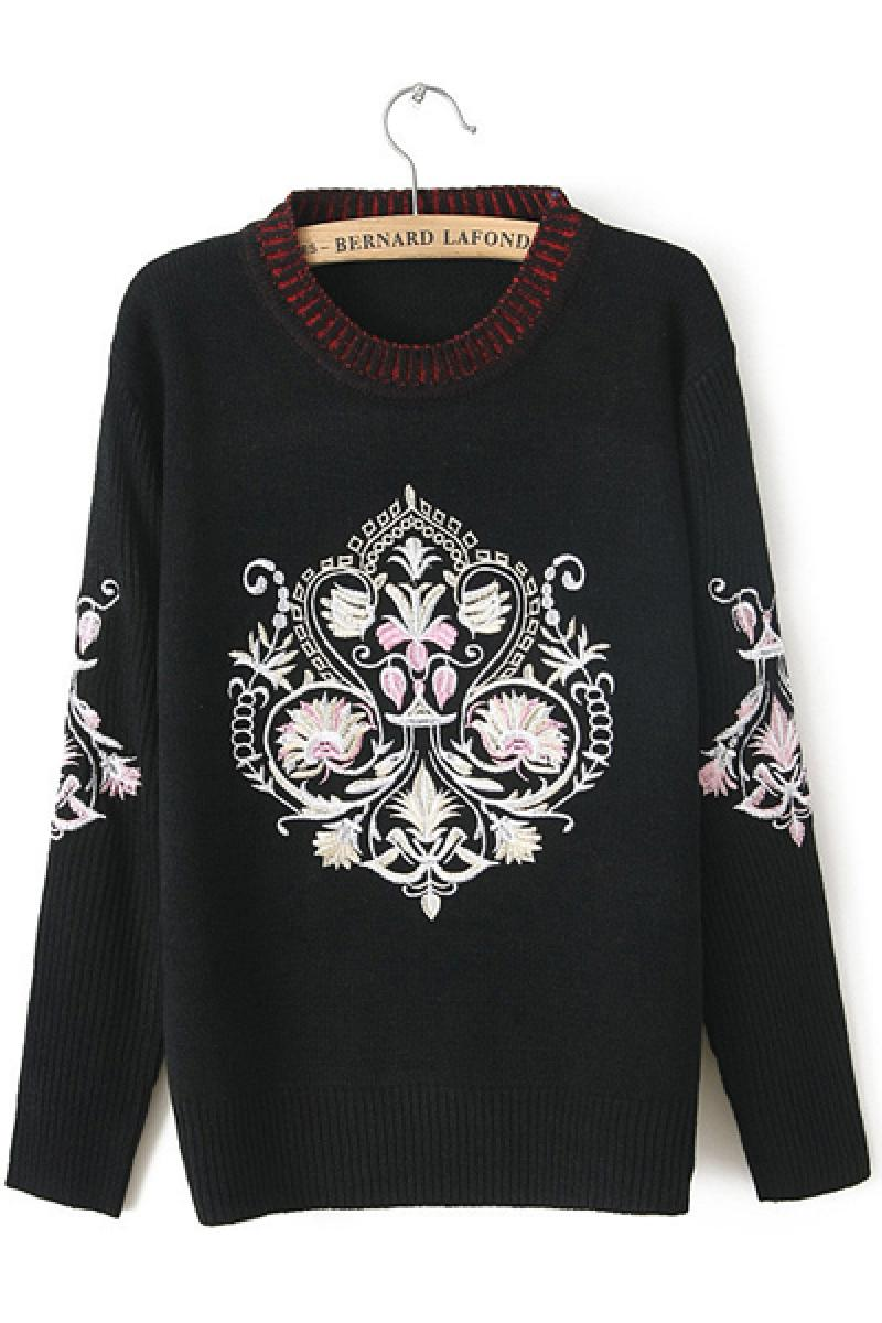 Autumn & Winter New Section Vintage Embroidery Sweater,Cheap in Wendybox.com