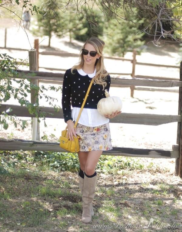 fashion addict shirt sweater skirt shoes bag jewels