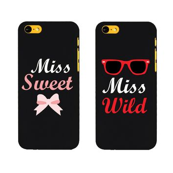 BFF Phone Covers Miss Wild and Miss Sweet Matching Phone Cases for Iphone 5C Gift for Best Friends on Wanelo