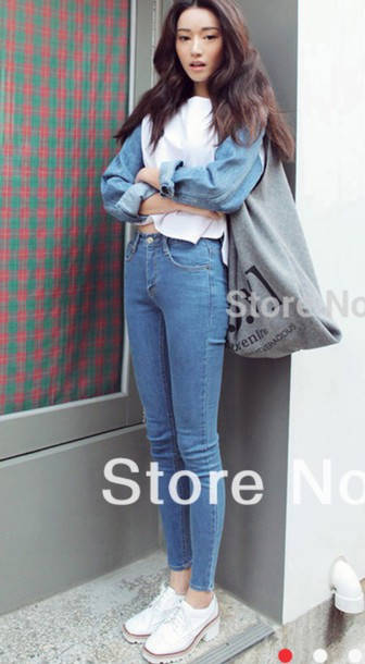 shirt jeans white shoes white and jean shirt trendy dope oversized shirt pants