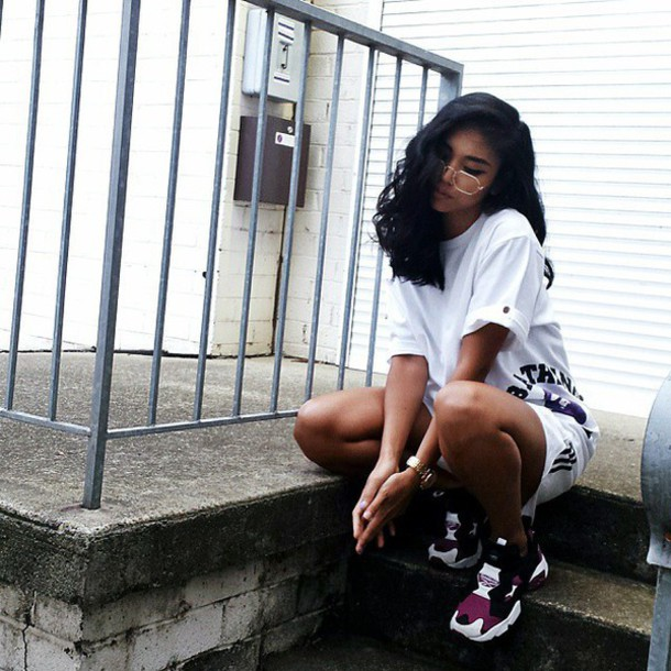 shoes sneakers sneakers white purple shoes style swag white dress