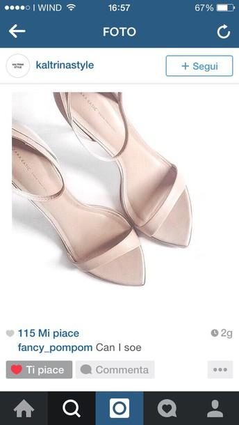 shoes heels nude sandals