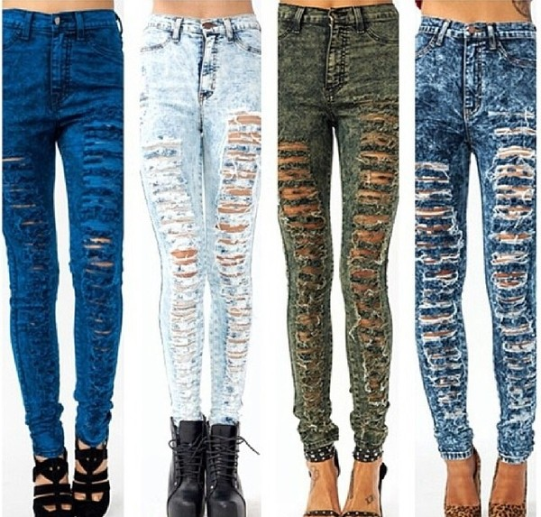 jeans washed jeans ripped jeans swag beautiful amazing dope sexy blue