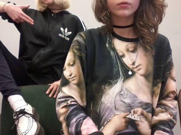 sweater shirt sweatshirt art clothes t-shirt