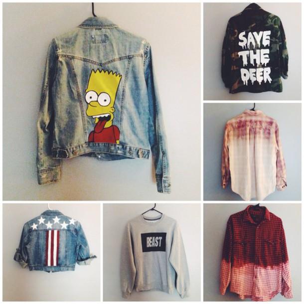 Jacket The Simpsons Bart Simpson Camouflage Levi 39 S