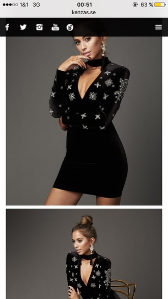 dress black velvet