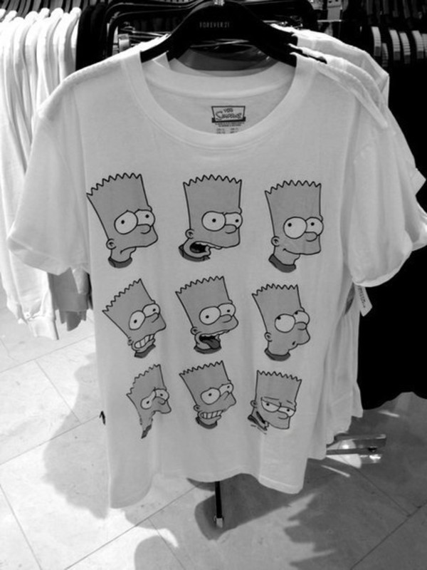 t-shirt t-shirt the simpsons