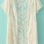 White Short Sleeve Crochet Net Lace Cardigan - Sheinside.com