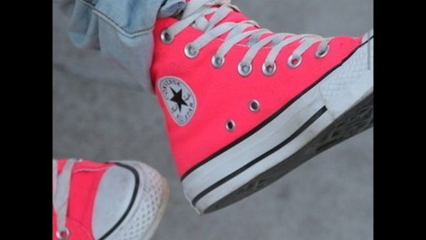 shoes in pink