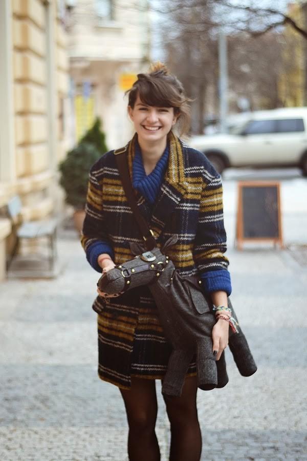 coat Choies fashion bag