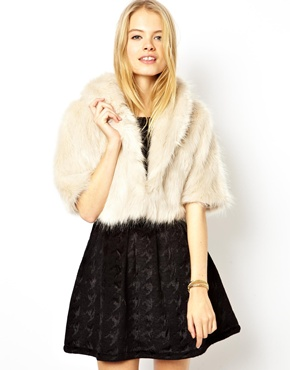 ASOS | ASOS Faux Fur Crop Stole at ASOS