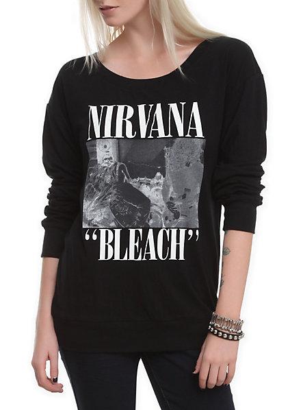 Nirvana Bleach Long-Sleeved Girls T-Shirt | Hot Topic