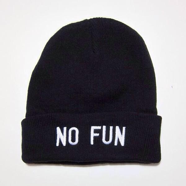 hat beanie black black beanie no fun winter outfits warm no fun beanie cute tumblr