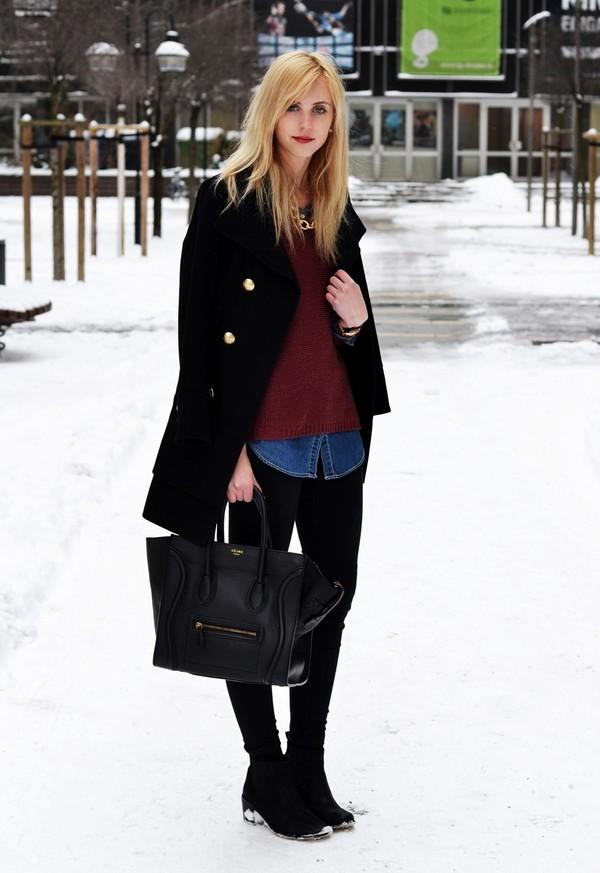 vogue haus blouse sweater jeans coat jewels bag shoes