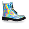 Spot on boots - silver hologram boots / shoes - alternative / gothic footwear | ebay