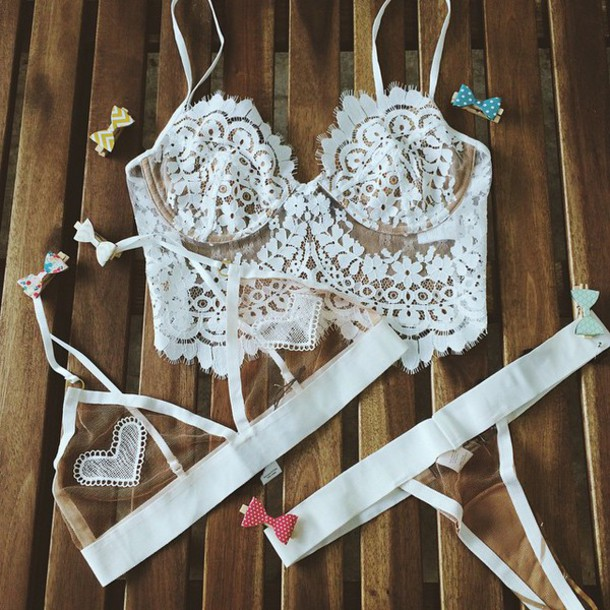 underwear For Love & Lemons lace lingerie ishine365