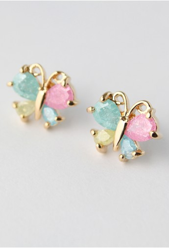 Delicate Butterfly Beads Earrings  - Retro, Indie and Unique Fashion