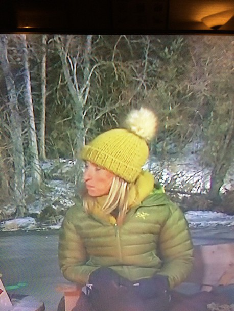 hat michaela strachan winter watch green beanie