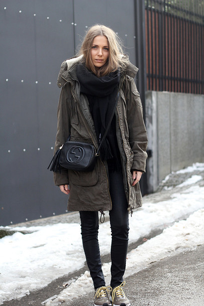 fashion and style blogger shoes pants sweater jacket scarf bag