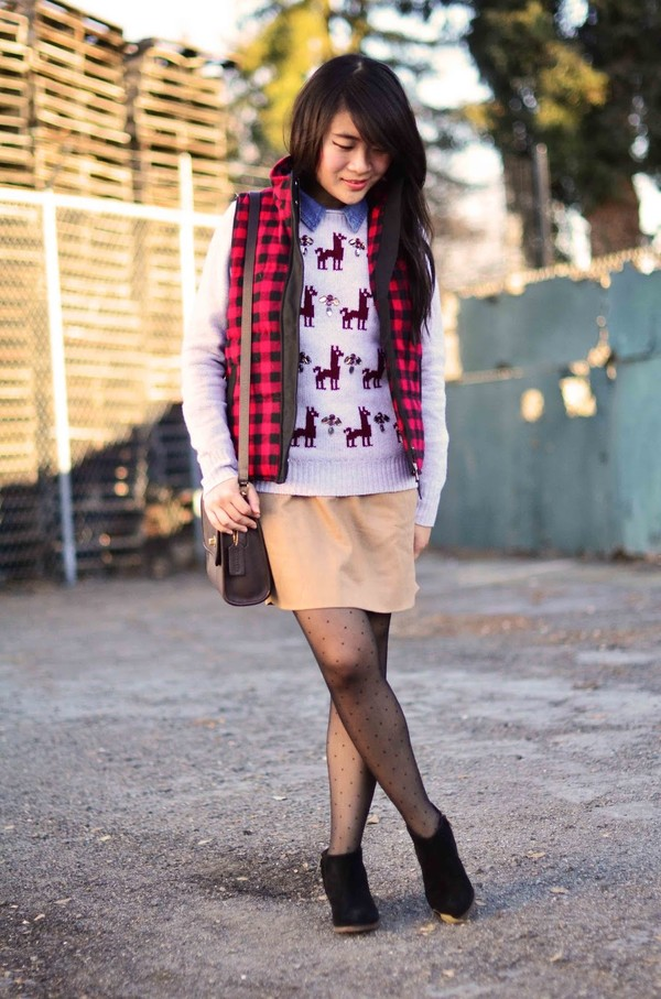 daily disguise shirt sweater skirt jacket bag