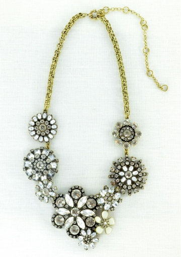 Vintage-inspired Flower Queen Statement Necklace - Happiness Boutique