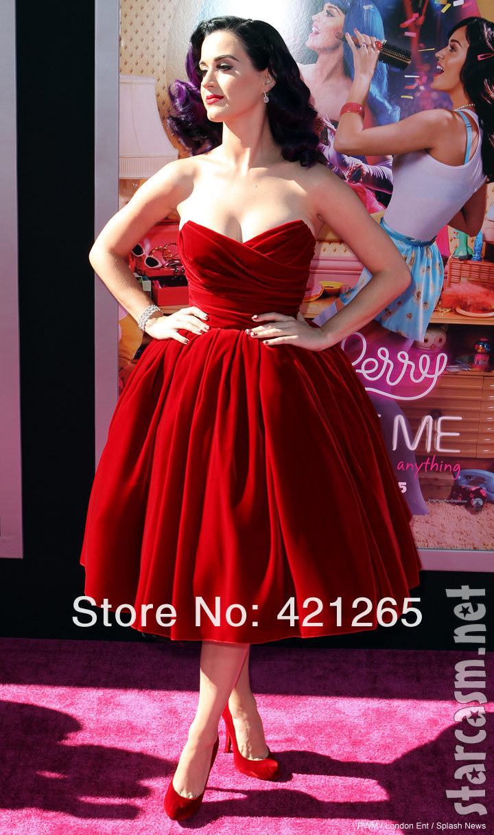 Free shipping wedding dress Maya Myriam fares Sweetheart Katy Perry Red Pleat Ball gown beach Ankle length custom-in Celebrity-Inspired Dresses from Apparel & Accessories on Aliexpress.com