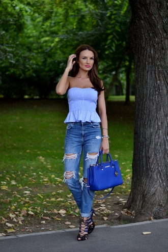 my silk fairytale top jeans shoes bag