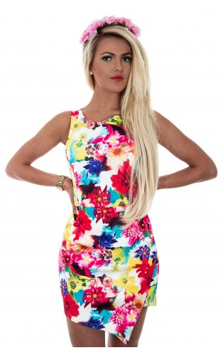 Nika Floral Skort Playsuit In Pink -  from The Fashion Bible  UK
