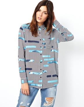 ASOS | ASOS Shirt in Layered Cutabout Stripe Print at ASOS