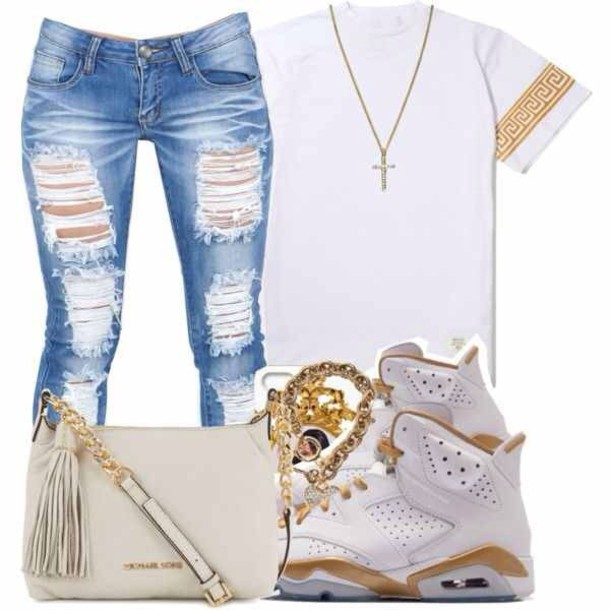 jeans shoes t-shirt jordans shirt jewels urban