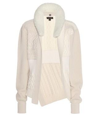 cardigan wool white sweater