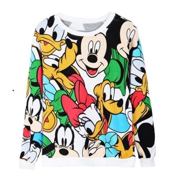 sweater hoodie mickey mouse disney sweatshirt t-shirt