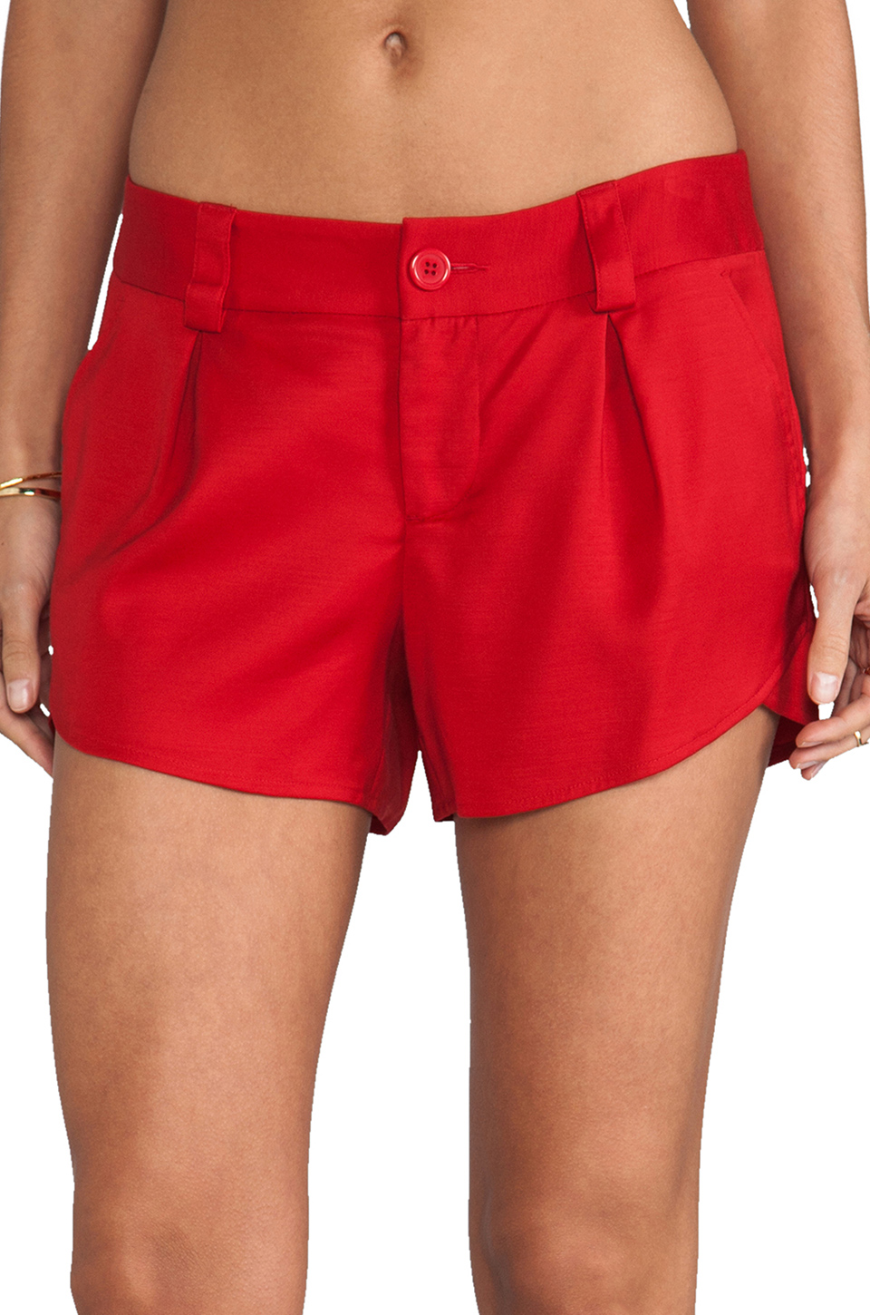 Alice   Olivia Butterfly Short in Red | REVOLVE