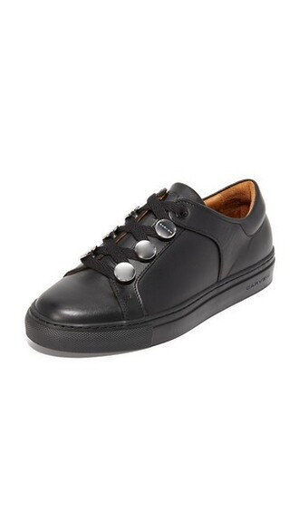 noir sneakers leather shoes