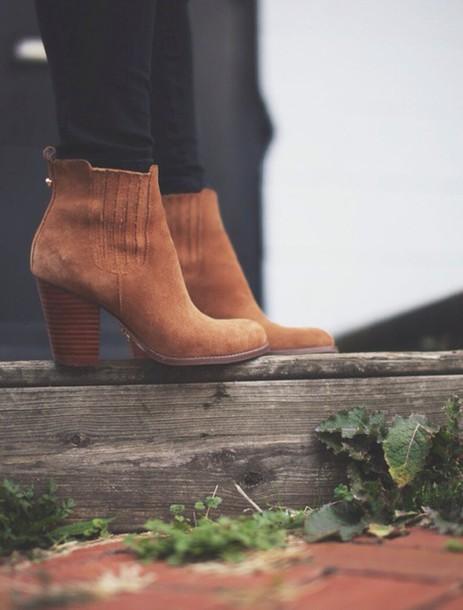 shoes brown leather boots bottes marron brunette