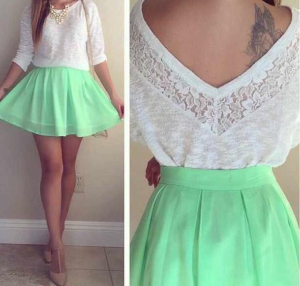 skirt sweater blouse dress 2 piece dress set
