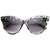 High Pointed Tip Inset Frame Oversize Cat Eye Sunglasses 8462                           | zeroUV
