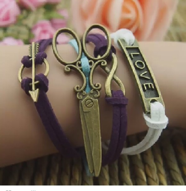 jewels scissors bracelets crafty diyer metallic arm candy
