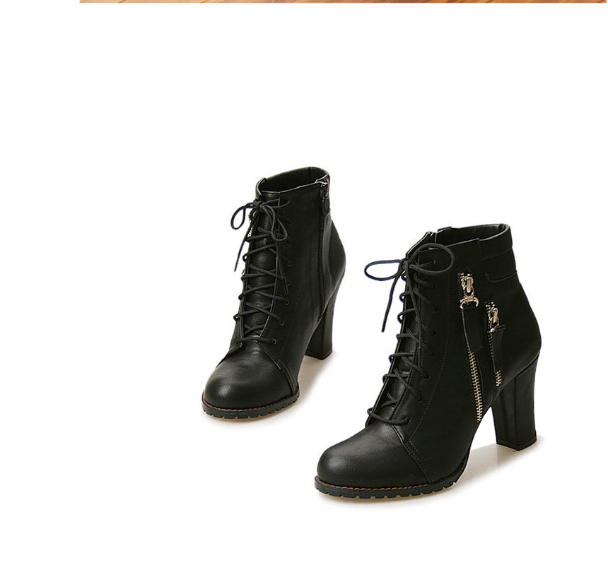 Lace-Up Zip-Up Ankle Boots - Wifky | YESSTYLE
