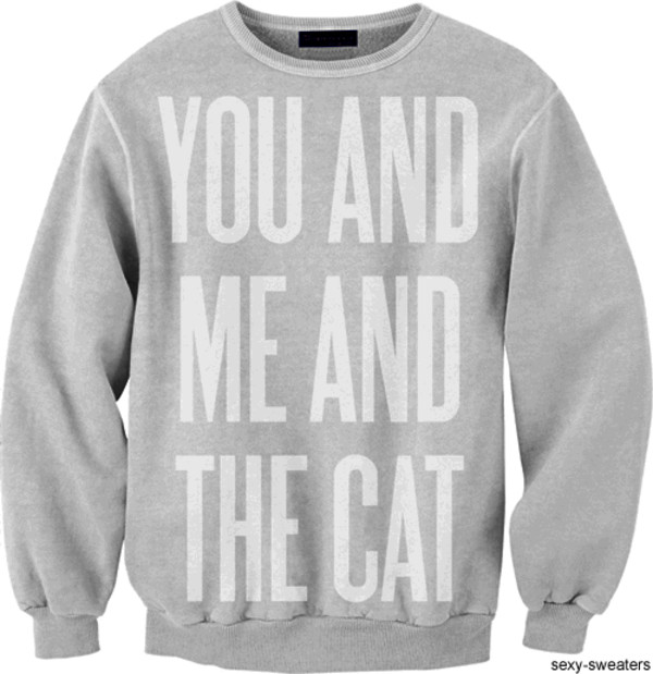 sweater cats cats love more young inlove beautiful oversized sweater sweatshirt winter sweater couple sweaters the wanted couple