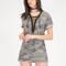 Boot camp lace-up camo shirt dress camouflage - gojane.com