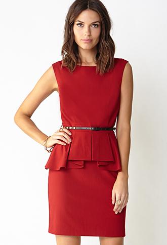 Chic Side Peplum Dress | FOREVER21 - 2000108039
